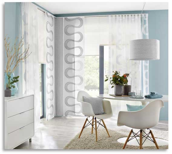 Unland gardinen vorh nge dekostoffe plissee kissen for Gardinen wohnzimmer trend